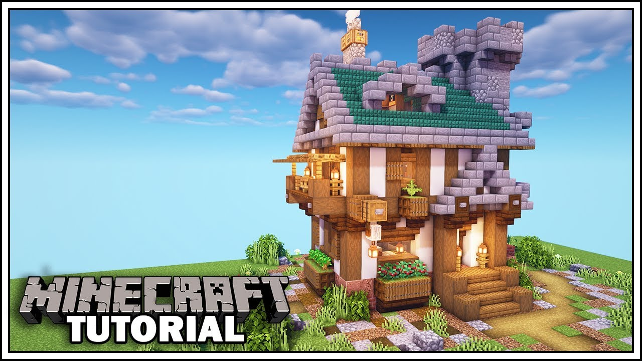 How To Build A Medieval House In Minecraft Minecraft Tutorial Youtube