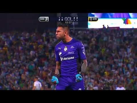 Resumen Semifinal Clausura 2018 Ida: Santos 4-1 América