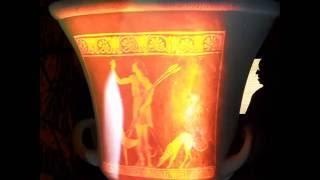 Vasija griega de cerámica de figuras rojas