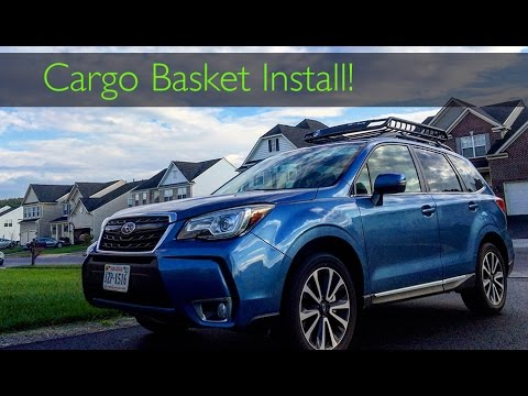 Subaru Roof Basket >> 2017 Subaru Forester Xt Roof Cargo Basket Install Rola 59504