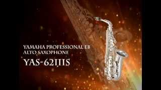 Yamaha YAS 62IIIS Professional Eb Alto Saxophone; New Hand Engraving; Silver Plated Finish