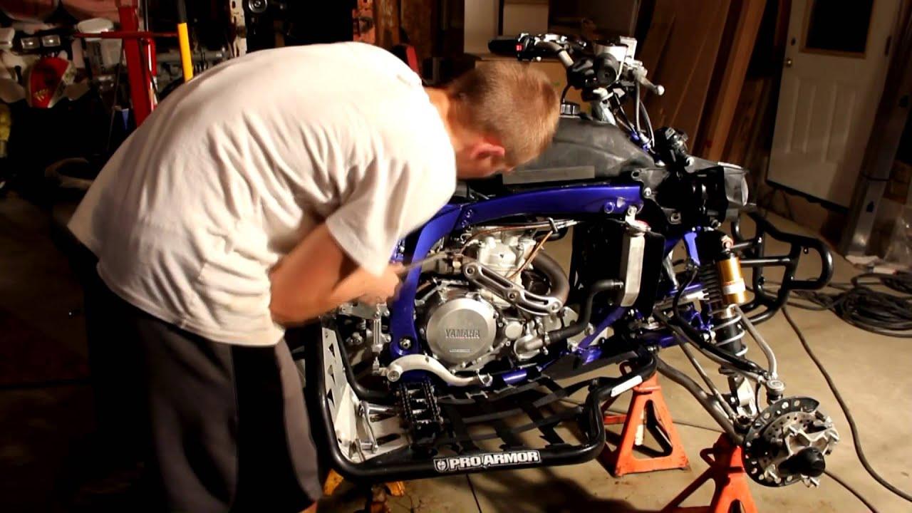 Yamaha Yfz 450 Hmf Exhaust Installation Before