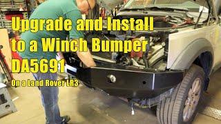 Install Winch Bumper DA5691 On Land Rover LR3