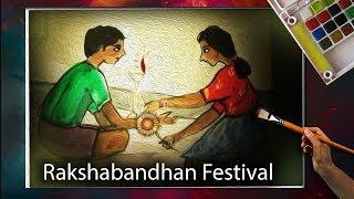 How to Draw Raksha bandhan Colour Drawing||Festival RakshaBandhan||speed drawing
