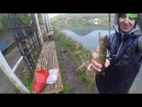 Железноводское озеро, ловля хищника на спиннинг.