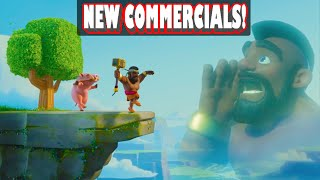 "Clash of Clans - ""NEW ANIMATED COMMERCIALS!"" Shocking Moves + Balloon Parade + Ride of the Hog Rider"
