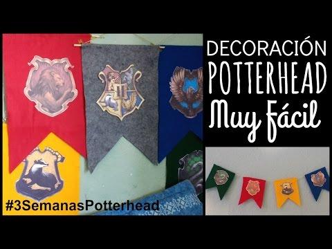 Banderines De Hogwarts ⚡ Decoración Harry Potter | Ame Mayén