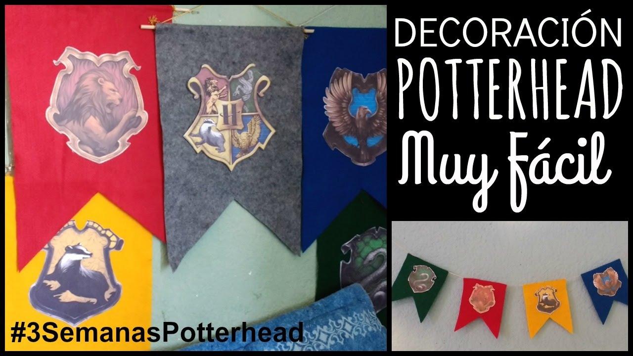 Banderines de hogwarts decoraci n harry potter ame for Harry potter cuartos decoracion
