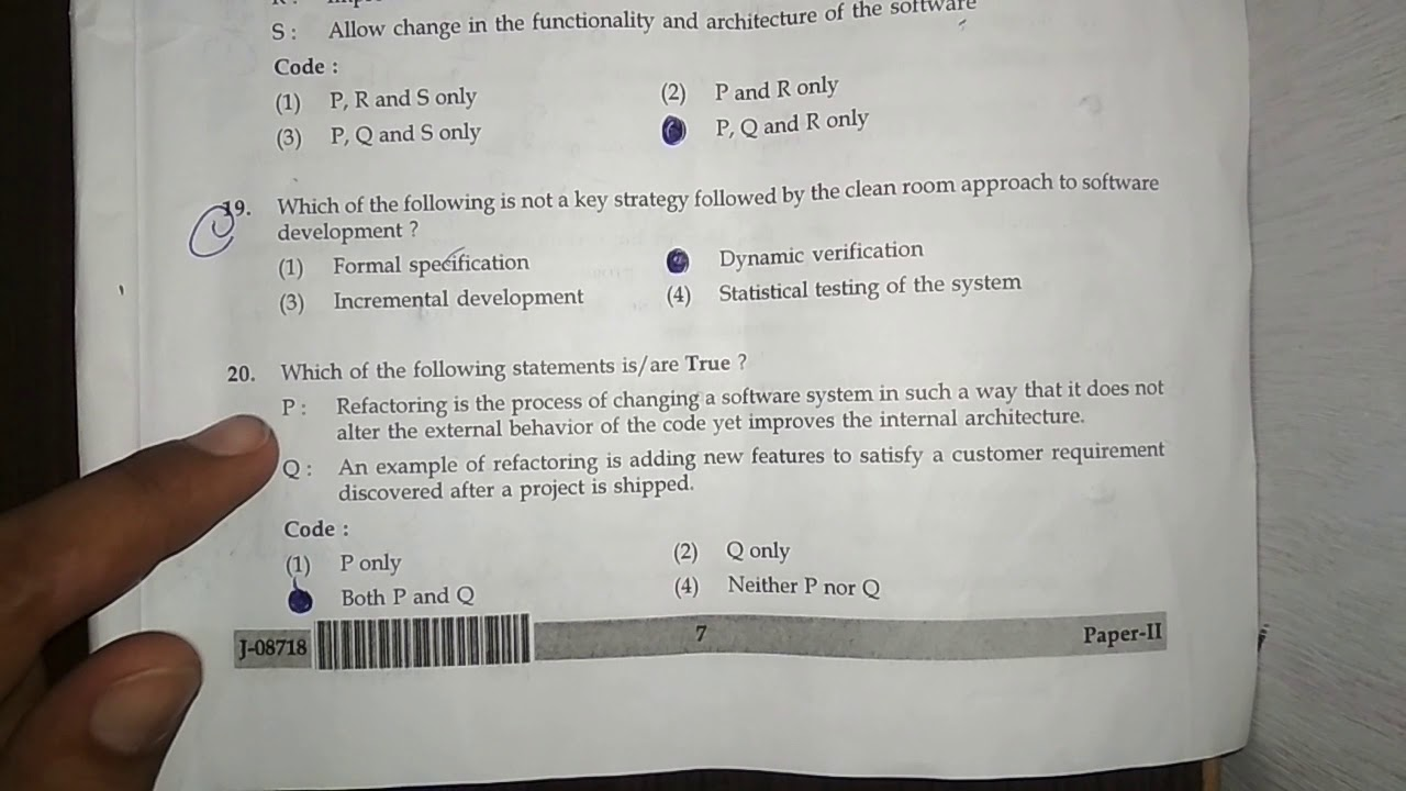 Answer key Computer science and applications answer key of ...