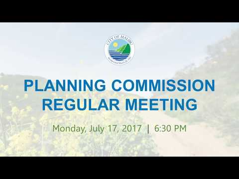 Malibu Planning Commission Meeting July 17, 2017