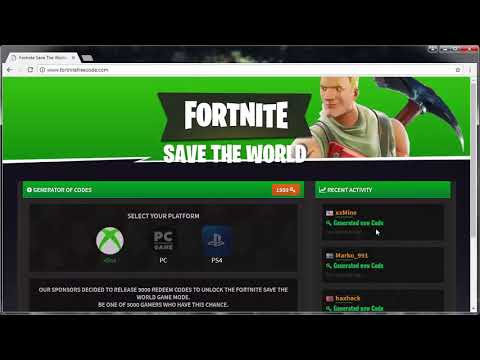 FORTNITE SAVE THE WORLD REDEEM CODE *FREE*-  PS4 /XBOX / PC