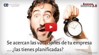 Planificar las vacaciones de tu empresa: descubre cómo | Asesor Informa 3.0 Junio