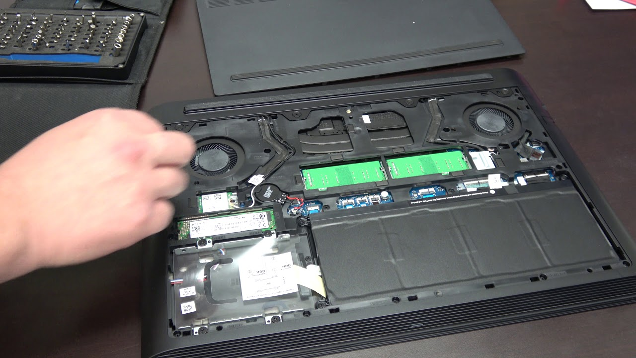 Dell G series G7 removing back cover for upgrades