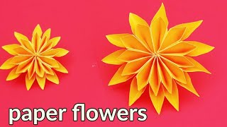 How to make a paper flowers,paper flowers craft ideas Handmade,home decoration paper flowers design