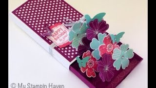 3D Matchbox Pop-up Card using Stampin