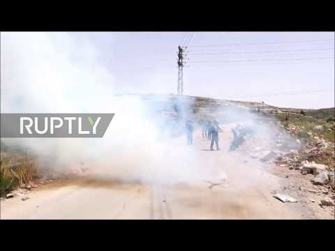 State of Palestine: Israeli forces use tear gas on Palestinian Prisoners Day march