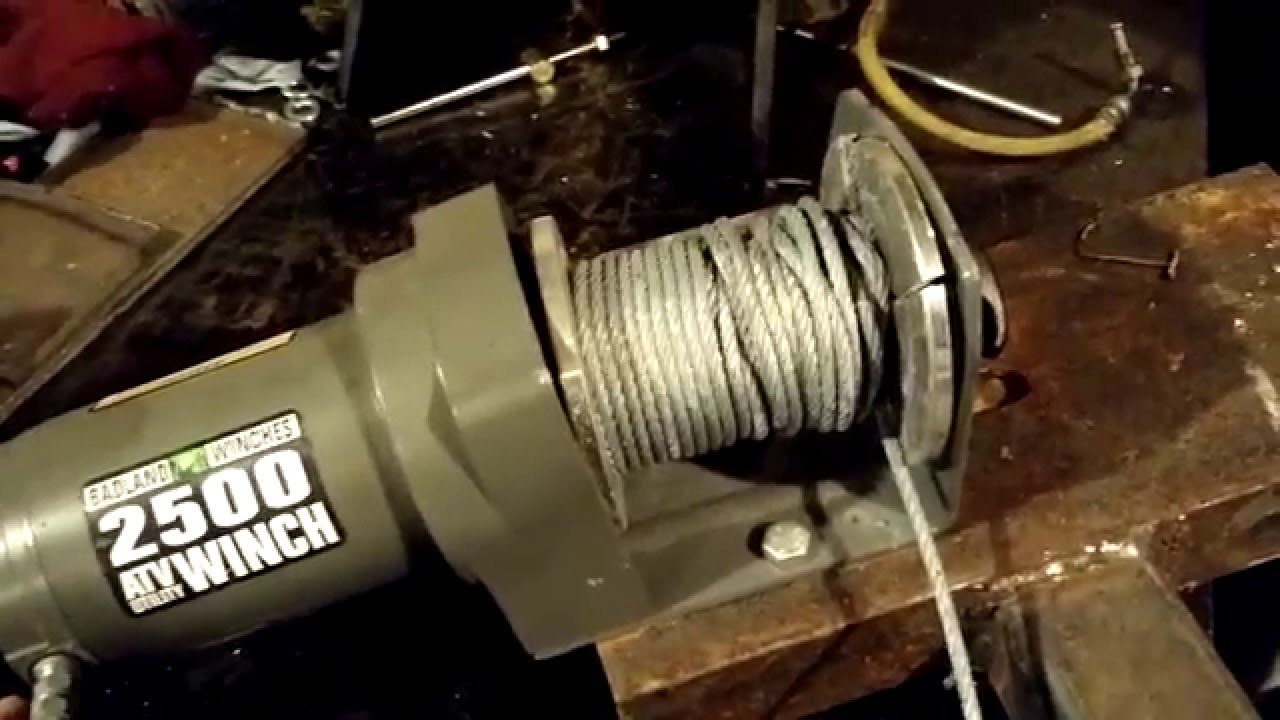 harbor freight winch 2500 badlands with wireless remote review rh youtube com