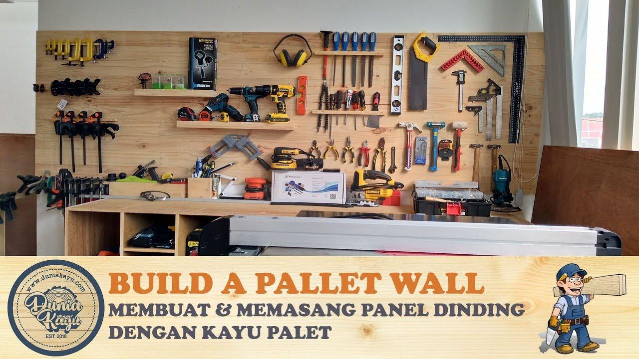 Cara Membuat Dinding Kayu Pembuatan Pemasangan Backdrop Wall Panel Hiasan Palet