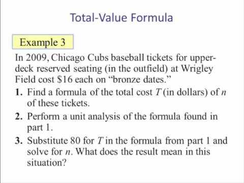 Formulas (Literal Equations) Part 1
