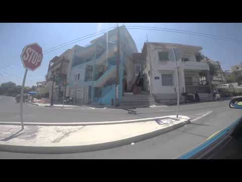 Driving in Mytilene Greece
