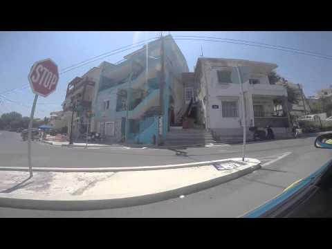 Driving in Mytilene Greece