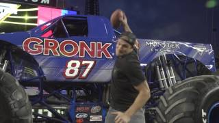 Two of Foxborough's Favorites   the Gronk and Monster Jam