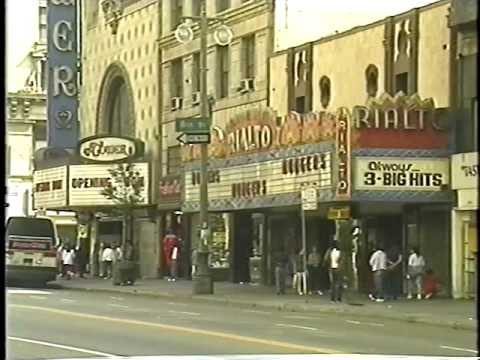 Broadway Theatre District in the 1980s