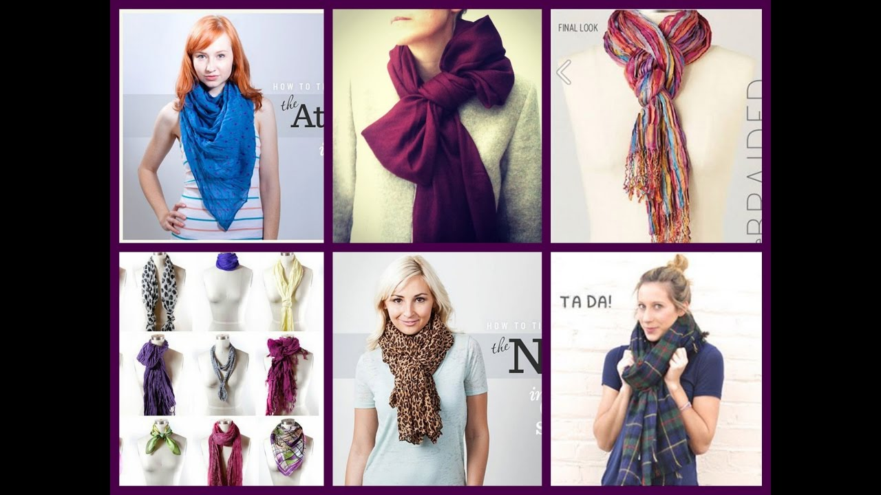60 Ways to Wear a Scarf - Scarves Tying Tutorial - YouTube