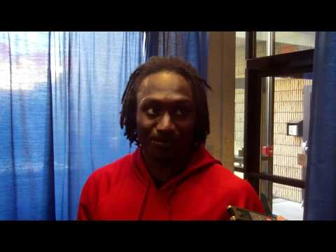 Adrian Bushell post game interview at WVU 2011