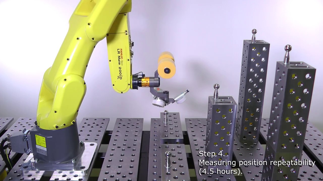 Measuring the position repeatability of an industrial robot