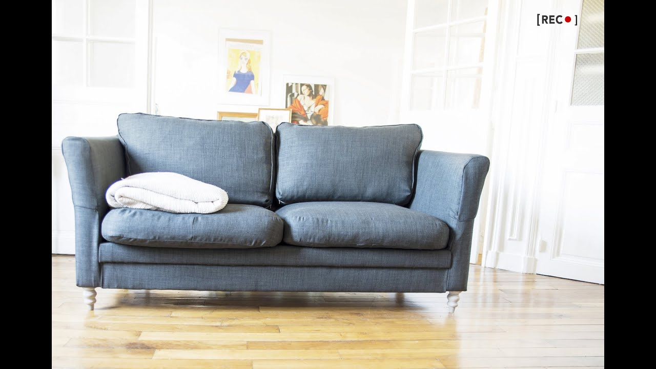 Elegant HOME DIY : How To... Reupholster Your Old Couch?   YouTube