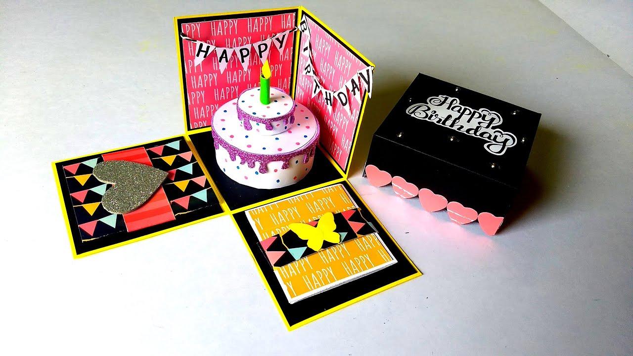 Beautiful Birthday Card Idea | Handmade Birthday Greeting Card | Tutorial