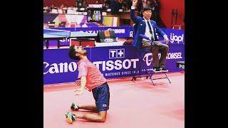 Sathiyan Gnanasekaran's historic win over Kenta Matsudaira at the Asian Games 2018 .