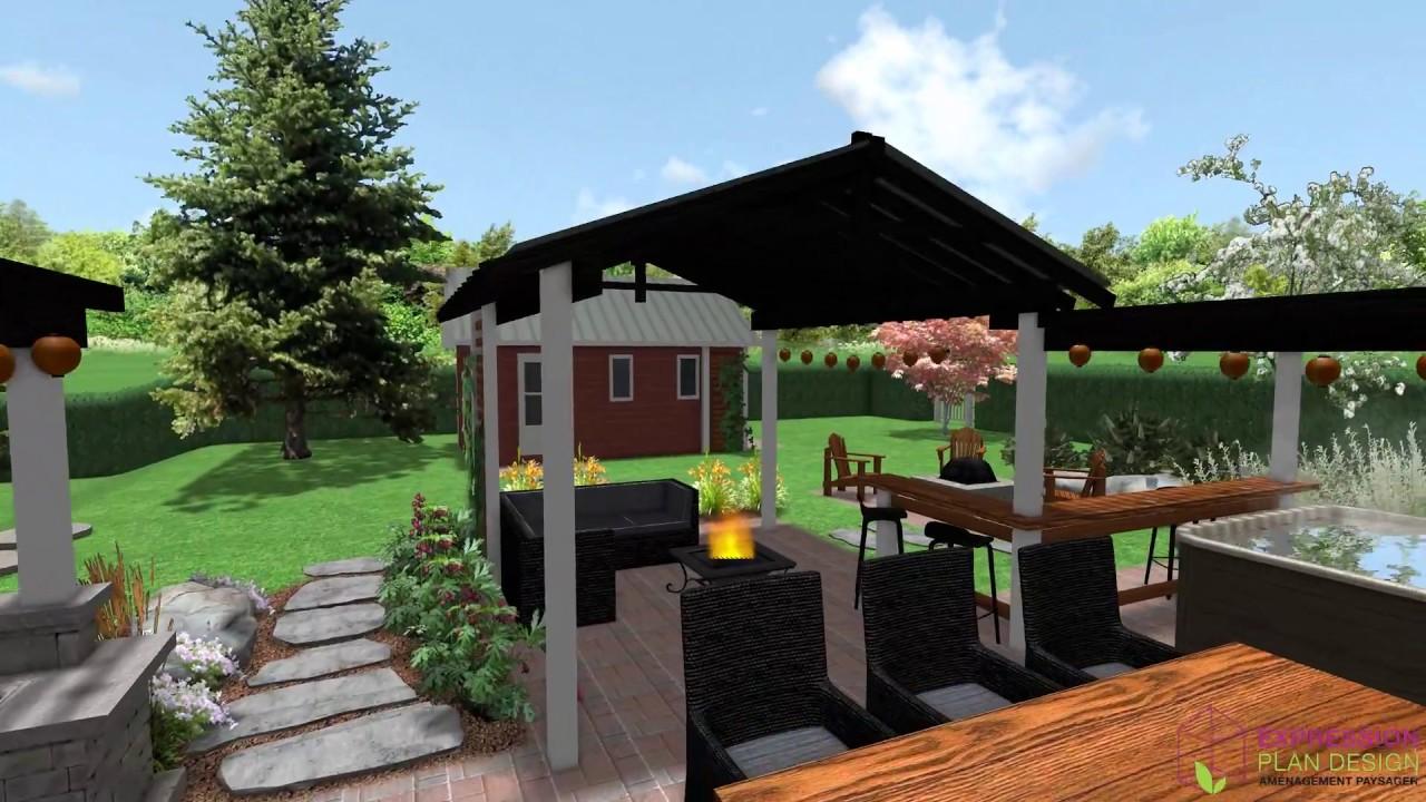 Expression Plan Design - Plan d\'aménagement extérieur