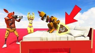 NIGHTMARE FREDBEAR'S POOP PRANK! (GTA 5 Mods For Kids FNAF Funny Moments)