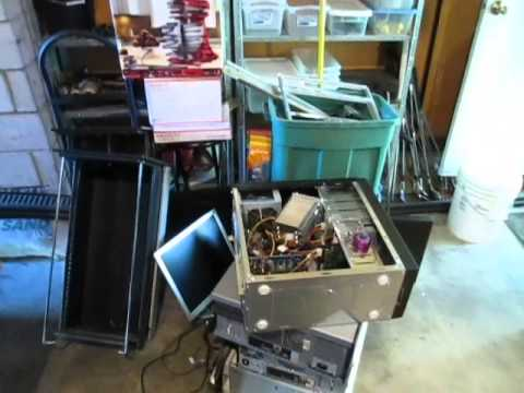 Scrapping Computers & File Cabinets From An Office Storage Unit.