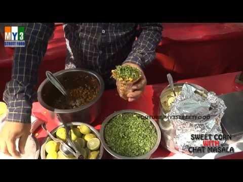 SWEET CORN WITH CHAT MASALA | GOA STREET FOOD | INDIAN STREET FOOD Street Food