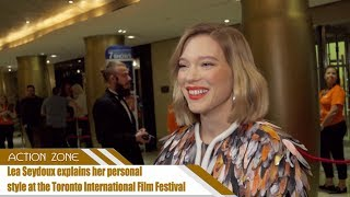 Lea Seydoux explains her personal style at the Toronto International Film Festival