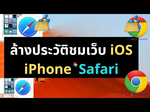 วิธีล้างประวัติการเข้าชมเว็บ  ระบบ iOS iPhone iPad เบราเซอร์ Safari และ google Chrome