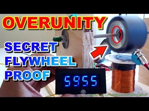 Overunity Flywheel Proof