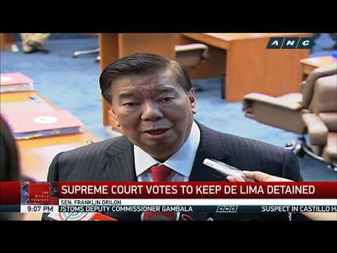 Supreme Court votes to keep De Lima detained