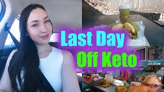 Full Day of Eating | Last Day Off Ketogenic Diet | Blood Ketone Results