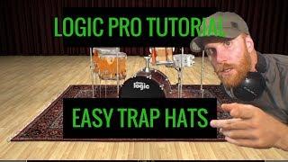 Trap Hats Logic X - How to Make Trap Hat Rhythm in Logic Pro X