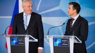NATO Secretary General with President of Czech Republic - Joint Press Point, 19 September 2013