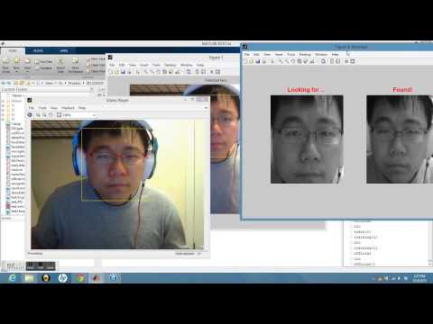 face recognition system matlab with training