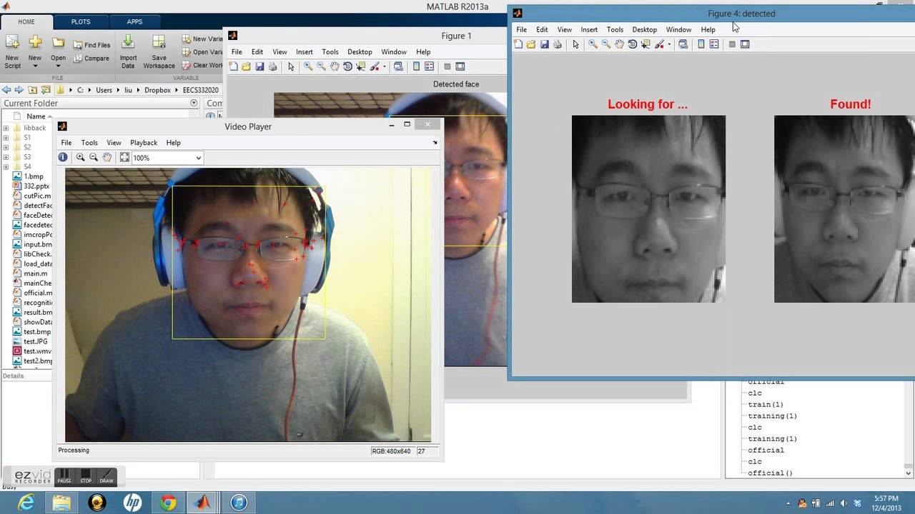 Face Recognition System Matlab With Training Youtube