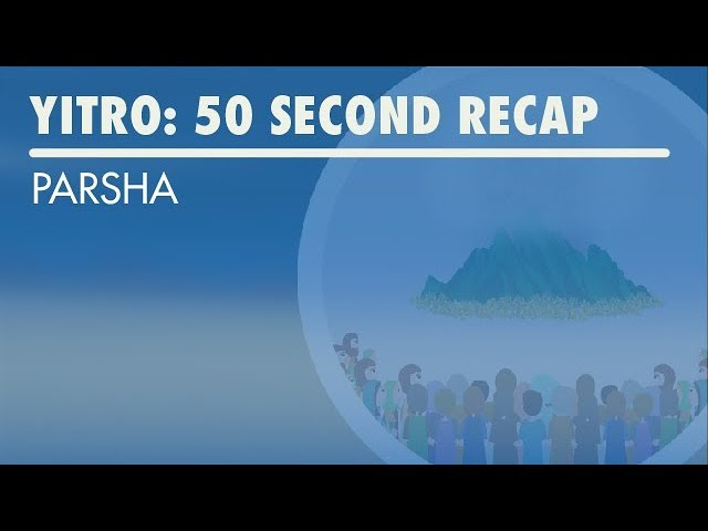 Parshat Yitro: 50 Second Recap