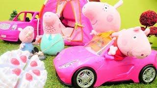 Çizgi film oyuncakları çocuk videosu.  Peppa Pig doğumgünü süprizi