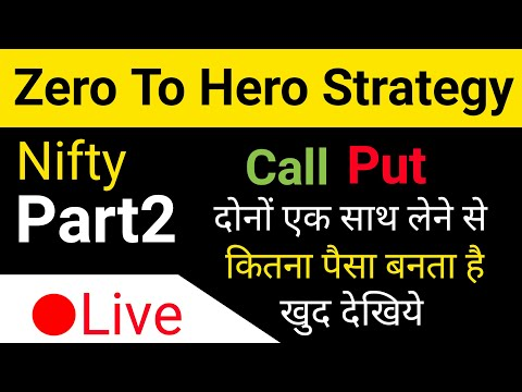 Nifty Options Live Trading | Nifty Zero To Hero strategy part2.