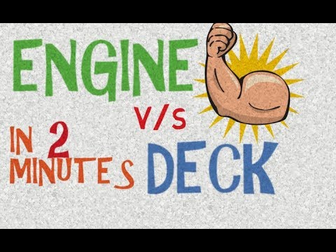Merchant Marine, Engine Side vs Deck Side